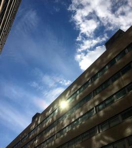 Light off Building